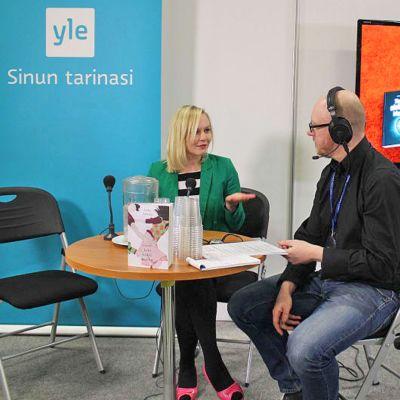 Yle Jyväskylän kirjamessuilla.
