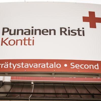 SPR:n Kontti-tavaratalon siäänkäynti Oulussa
