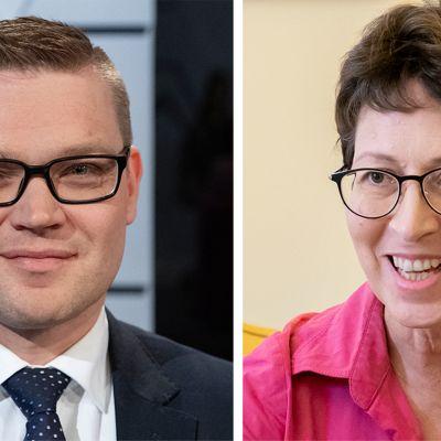 Kansalaispuolueen puheenjohtaja Sami Kilpeläinen ja kristillisdemokraattien puheenjohtaja Sari Essayah.