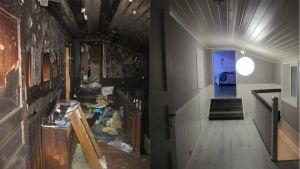 före och efter brand
