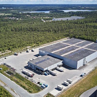 Fixcelin toimitila Hämeenlinnassa ilmakuvassa