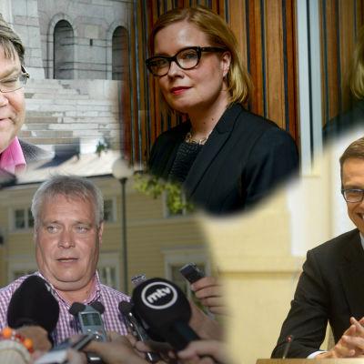Fyra politiker som utvärderades av en retorikexpert
