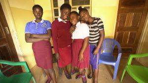 Tonåriga flickor från Zambia