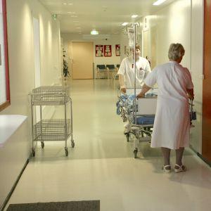 Sjukvårdare på ett sjukhus