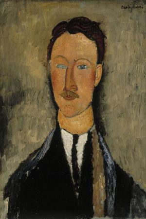 Amedeo Modigliani: Taidemaalari Léopold Survagen muotokuva (1918)