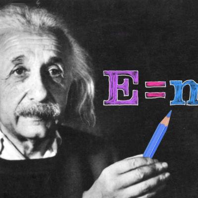 Albert Einstein värittää.