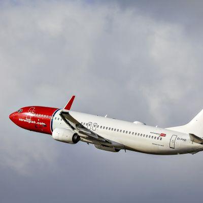 Norwegianin kone ilmassa.