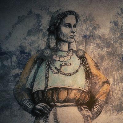 Merovingiajan naisen puku