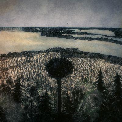 Mäkistä maisemaa Suomessa