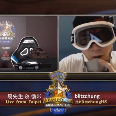 Kuvakaappaus Blizzard Taiwanin Hearthstone Grandmasters-lähetyksestä.