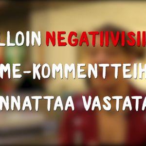 Kansikuva videolle jossa lukee Milloin negatiivisiin some-kommentteihin kannattaa vastata?