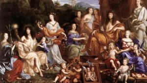 Jean Nocret: Mythological portrait of the Family of Louis XIV