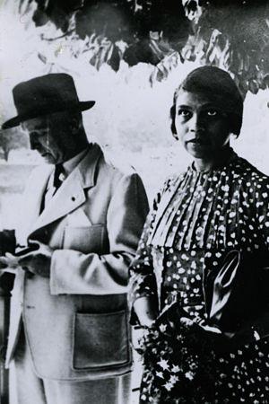 Amerikkalainen alttolaulaja Marian Anderson ja pianisti Kosti Vehanen 1930-luvulla.
