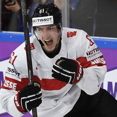 Fabrice Herzog gjorde Schweiz segermål i matchen mot Kanada.