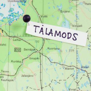 Tålamods är placerat ut på Finlands karta med en handskriven lapp.