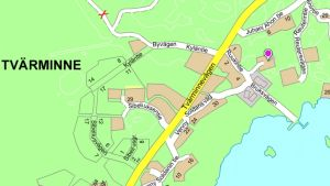 En karta över Tvärminne