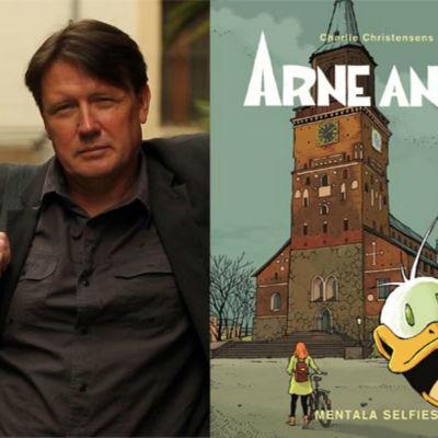 Serieskaparen Charlie Christensen med Arne Anka