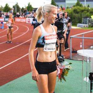 Camilla Richardsson får åka till Qatar i september.