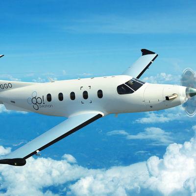 Pressbild från Go! Aviation:s webbplats.