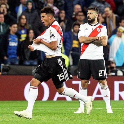 River Platen Lucas Pratto juhlii 1-1-tasoitustaan sunnuntaina.