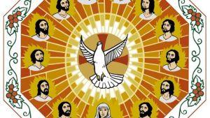 teckning av den Heliga Anden som en duva