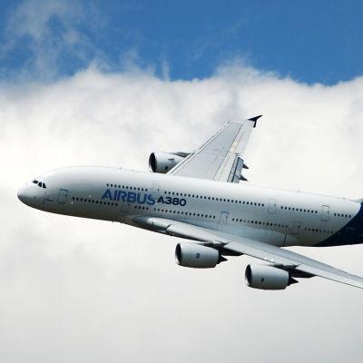 Ett Airbus A380-plan, med plats för över 800 passagerare.