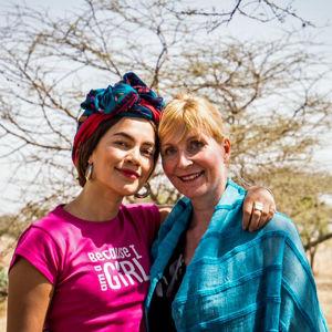 Valokuvaaja Meeri Koutaniemi ja Katriina Honkanen Etiopiassa
