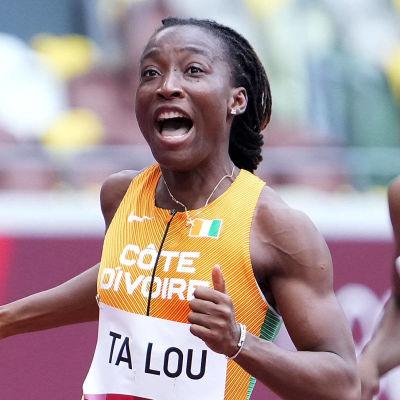 Marie Josée Ta Lou jublar i OS.
