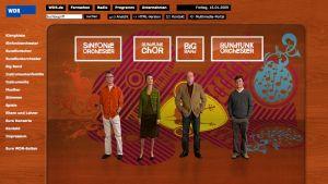 WDR Soundbox etusivu 4 ihmistä grafiikkapohjalla