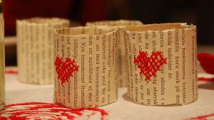 korsstygn på papper