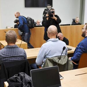 Åbo hovrätt behandlar om Nordiska motståndsrörelsen ska förbjudas 28.8.2018.