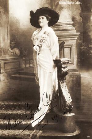 Amerikkalais-ruotsalainen oopperalaulaja Sara Cahier vuonna 1916.