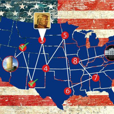Donald Trumps väg till Vita huset