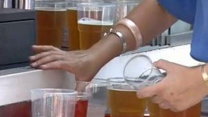 Många glas öl