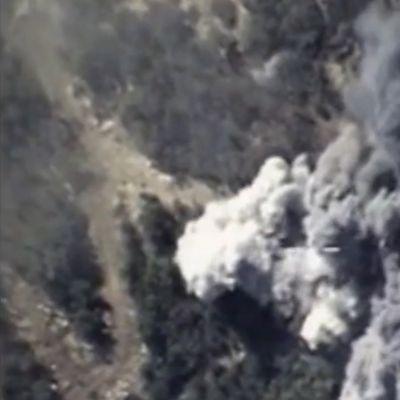 Venäjän ilmavoimien isku terroristijärjestö Isisiä vastaan 13. lokakuuta 2015.