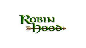 Logo för pjäsen Robin Hood på Raseborgs sommareteater.