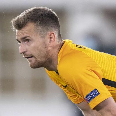 Lukas Hradecky i landslaget 2020.