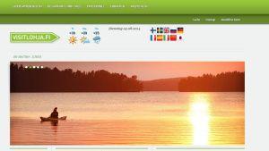Skärmdump av visitlohja.fi.