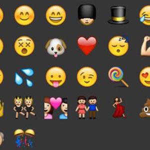Bild på olika emojis.