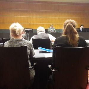 Bild från rättegångsalen i tingsrätten i Vasa