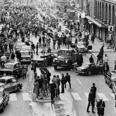 Stockholms trafik, landet övergår till högertrafik, 1967