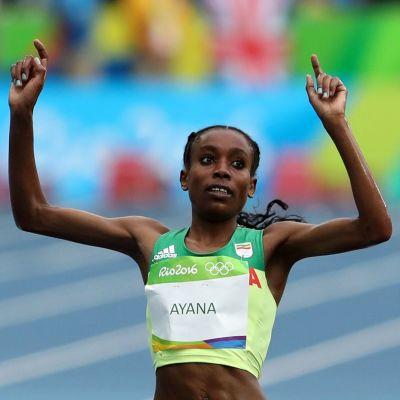 Almaz Ayana slog världsrekord i OS i Rio.
