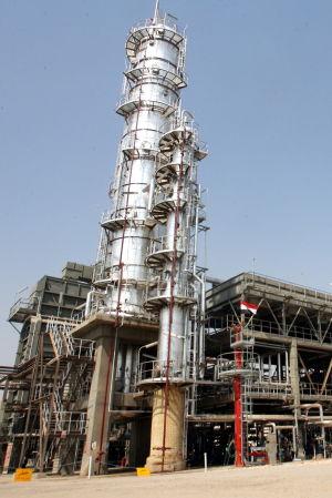 Raffinaderi utanför Bagdad, Irak