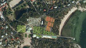 Bilden visar hur byggnader kunde placeras på området.