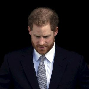 Prins Harry, hertigen av Sussex, vid Buckingham Palace den 16 januari.