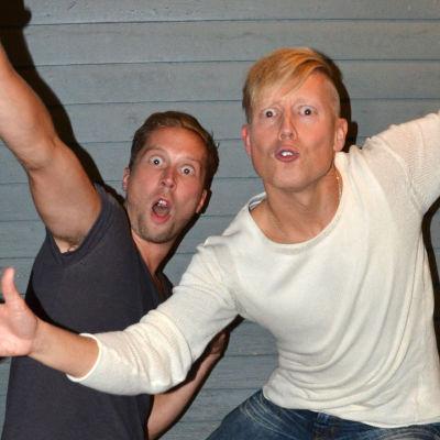 Magnus och Nicke från Veckoslutskommittén.