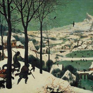 Metsästäjiä talvimaisemassa (Tammikuu sarjasta Vuodenajat, 1565)