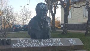Töhritty V.I. Leninin patsas Kotkassa 1.5.2020.