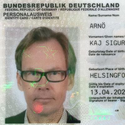 Kaj Arnös tyska identiteteskort