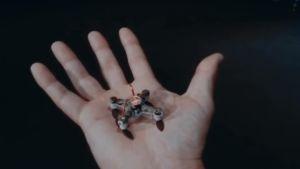 Drönare ur den fiktiva filmen Slaughterbots, som är en del av kampanjen att förbjuda autonoma vapen i krig.